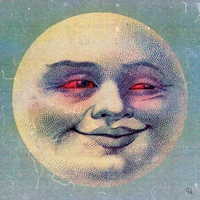 Vintage Moon Face 40 best Vintage moon i...