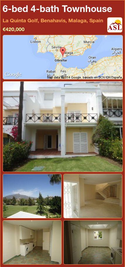 6-bed 4-bath Townhouse in La Quinta Golf, Benahavis, Malaga, Spain ►€420,000 #PropertyForSaleInSpain