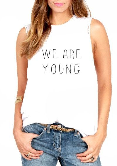 FREE SHIPPING-We Are Young Hipster, Hipster Muscle Tank, Muscle Tee, Hipster Shirt,  Tank Top (women, teen girls) on Etsy, $31.95