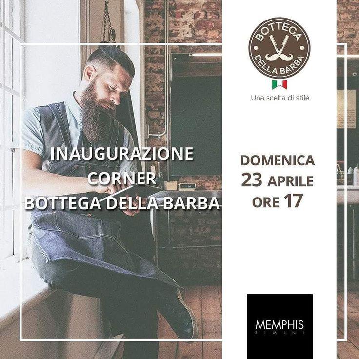 Domenica 23 aprile siete tutti invitati alla grande #inaugurazione del nuovissimo corner #bottegadellabarba! A Rimini presso @memphisrimini dalle ore 17 #Barber Live Show con @corradoberta e @claudio_clod_ferrari. Aperitivo musica e chiaramente tantissimi prodotti tutti da provare! #Reuzel #machobeardcompany #apothecary87 #BarberShop #Barberlife #Beard #barberaddict #beardstyle #men #grooming #events #shop #bdb #best #happyhour #sunday #weekend