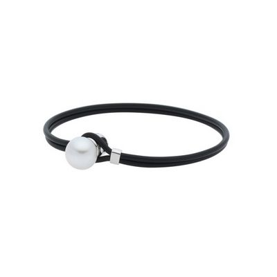 SOUTH SEA PEARL AND NEOPRENE BRACELET P71485, Temelli Jewellery