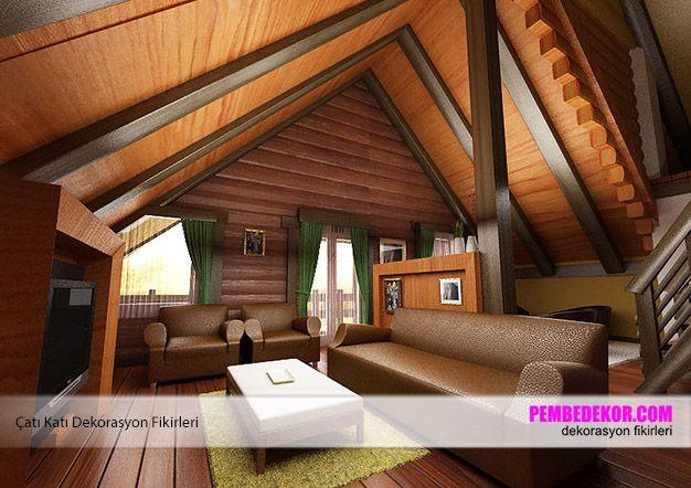 Çatı katları genellikle sivri kenarları, ahşap dekorasyonları ile ilgi çekici mekanlardır. Eğer siz de çatı katınıza oturma odası kurmak isterseniz yapmanız gereken ahşap dekorasyonuna