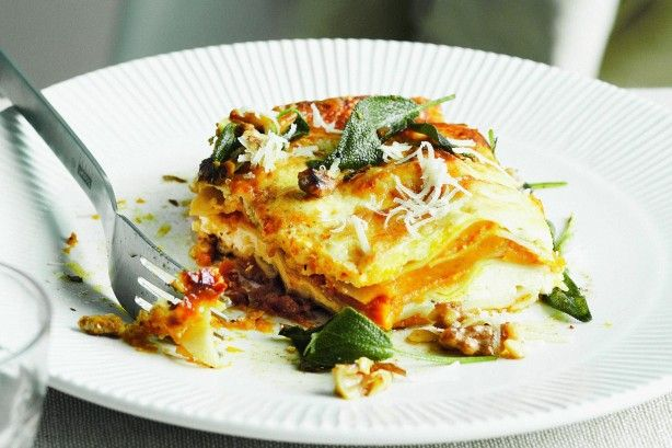 """Pumpkin, sage and ricotta lasagne - """"This is every bit as delicious as the picture. It is a huge winner!"""" - katemorris"""