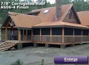 Corten Metal Roofing Rusted Look