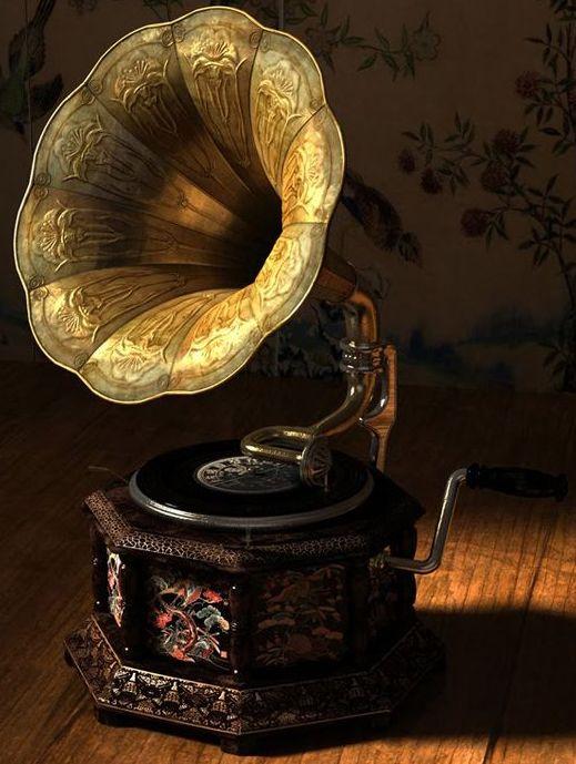 Gramophone Ancien - Pavillon 'Art Nouveau'