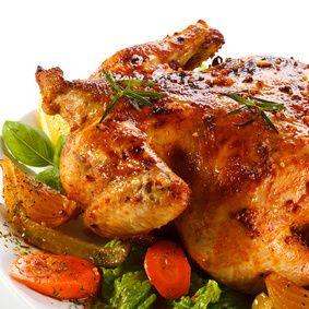Pečené kuře na mrkvi a tymiánu