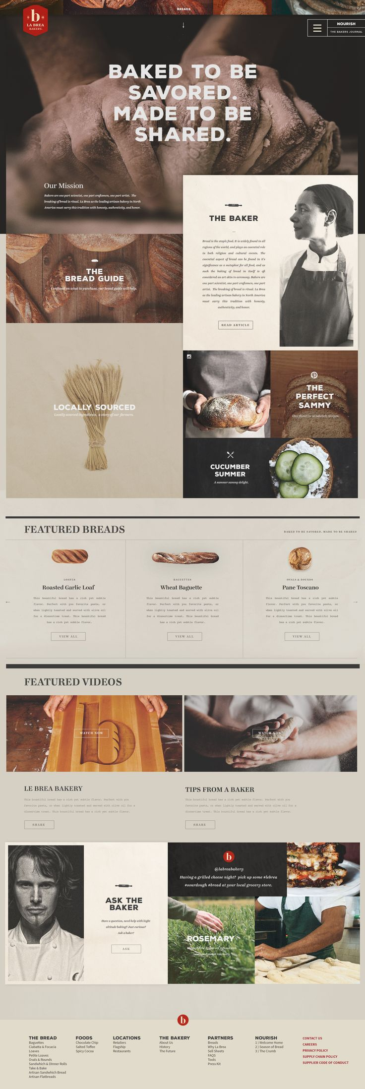 La Brea Bakery. Still a concept website. #webdesign #design (View more at www.aldenchong.com)