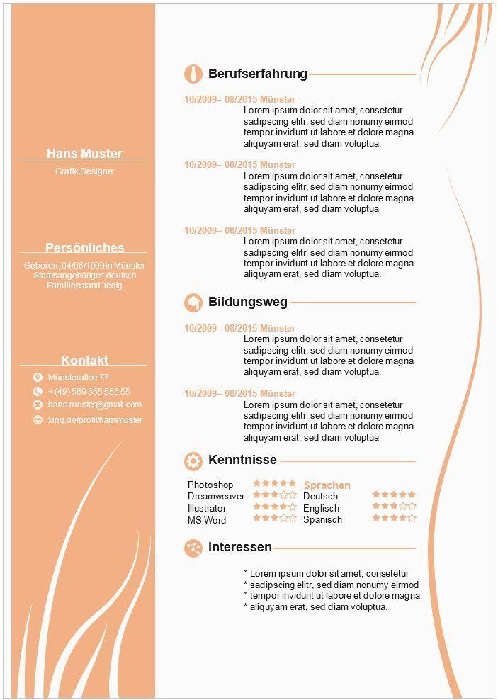 Lebenslauf Kreativ Vorlagen In 2020 Lebenslauf Muster Bewerbung Lebenslauf Vorlage Lebenslauf Template