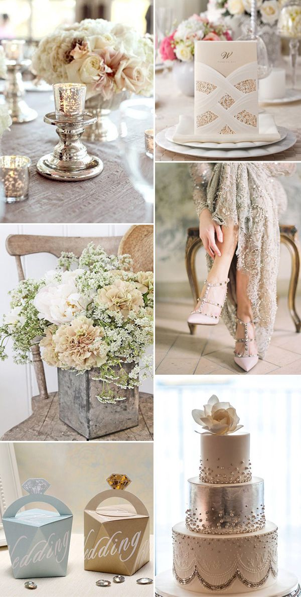 2017 neutral cream wedding color ideas