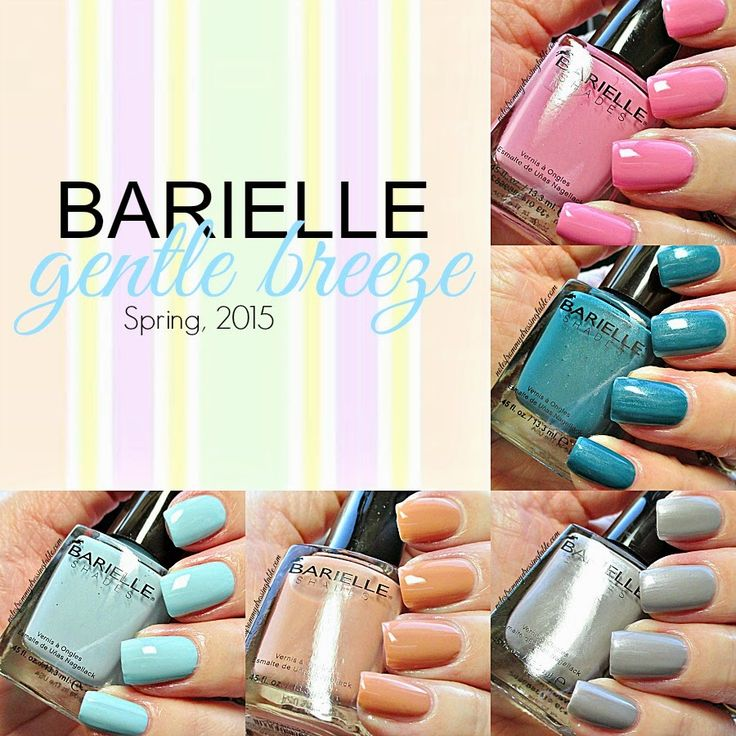 Gentle Nail Polish: Barielle Gentle Breeze Collection For Spring, 2015