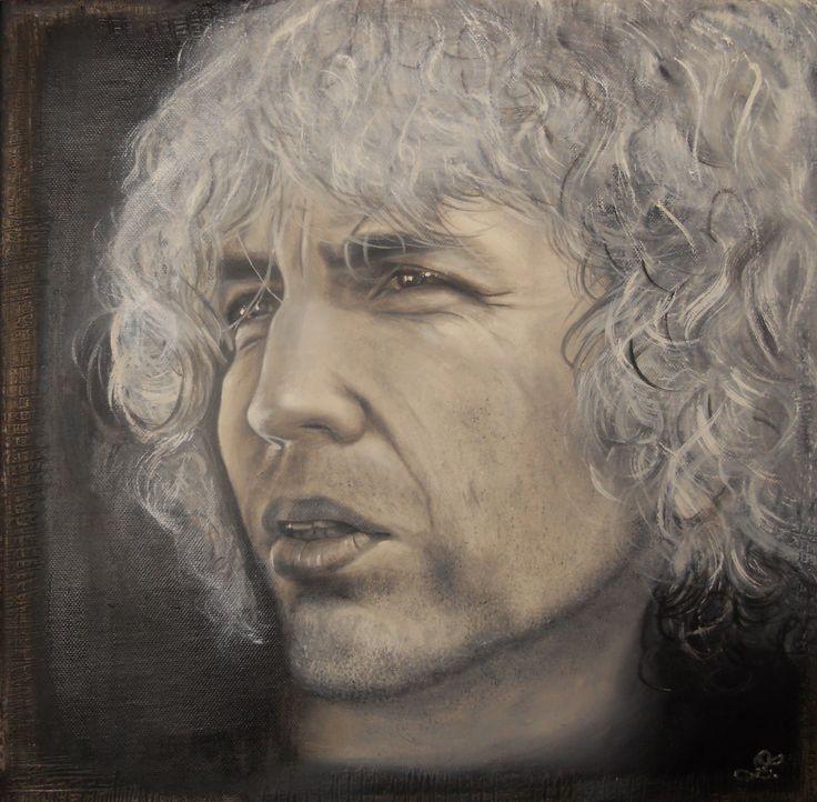 portrét olej na plátně/ Oil on Canvas  40x40cm