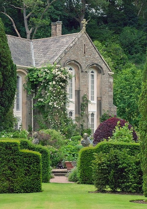 English country house and garden.