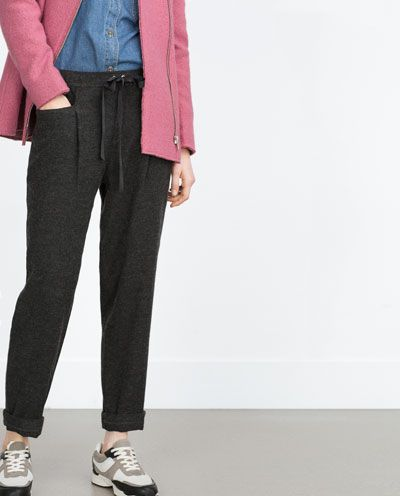 Image 1 of WIDE-LEG TROUSERS from Zara