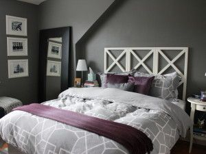 Purple And Grey Bedroom Modern Architecture Design