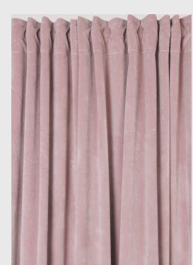 rosa fina sammetsgardiner | ambinesshome.se