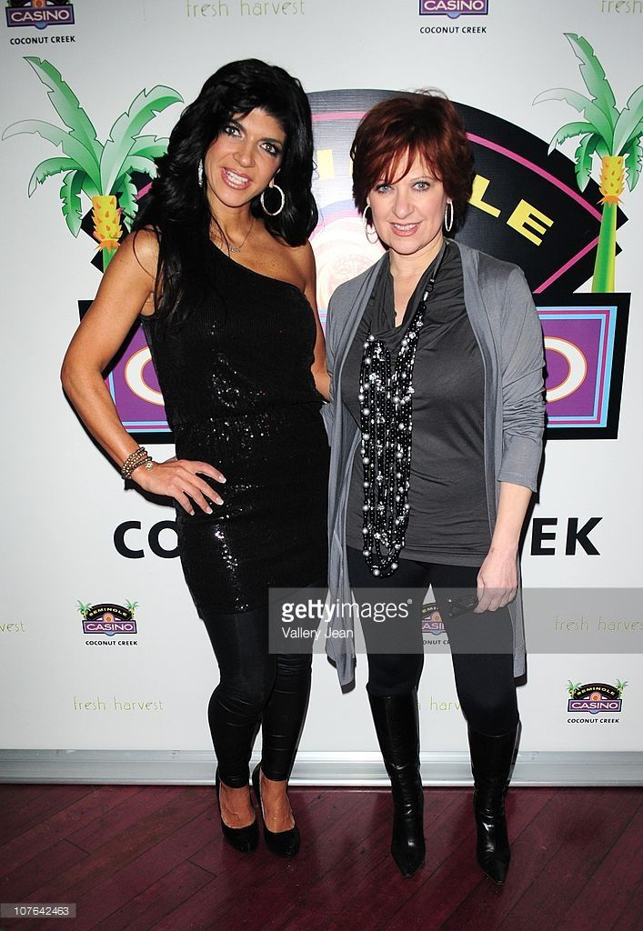 Teresa Giudice and Caroline Manzo attend the Real Housewives of New Jersey  Caroline Manzo and Teresa