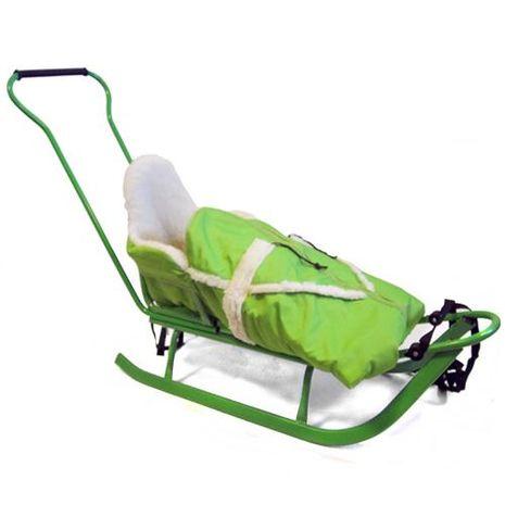 Vehicule pentru copii :: Saniute copii :: Saniute bebelusi :: Saniuta Piccolino cu Saculet Verde Adbor