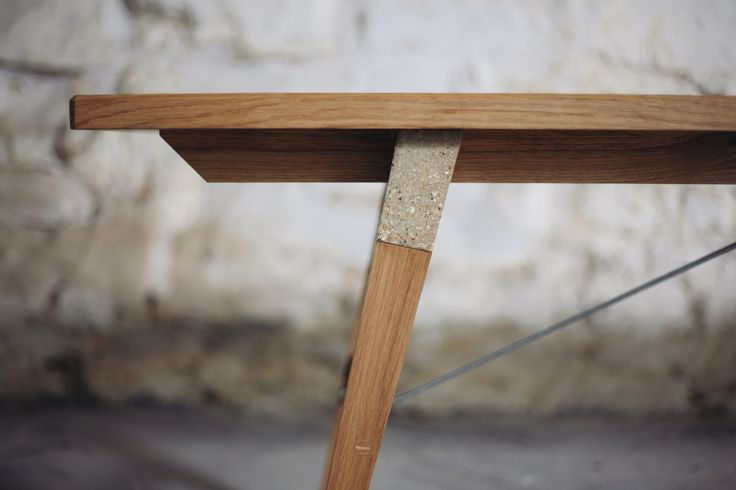 Custom-made, to commission, in the client's choice of materials, the Span Bench by Temper Studio is a practical bench with industrial chic good looks. Shown here, it is made in English Oak supported by two custom-cast concrete 'spans' connecting the legs and the seat, together with structural steel cross ties. temperstudio.com http://bit.ly/1VZKtir