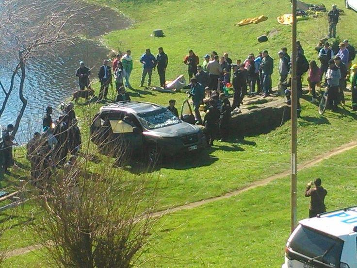 Asi fue encontrado el vehículo que permanecía hundido en el fondo la laguna redonda de Concepción.