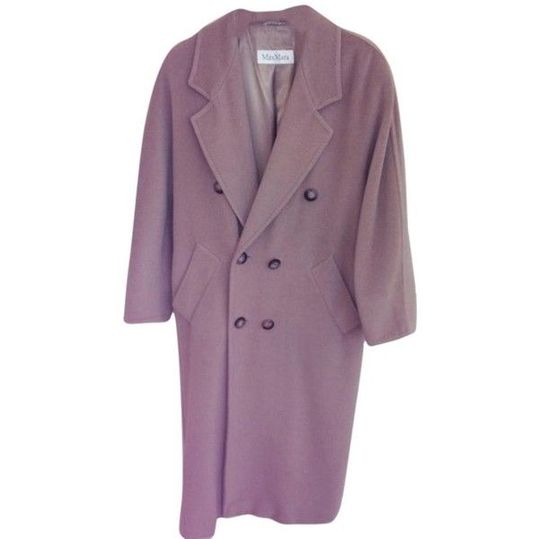 Pre-owned Max Mara , Winter Trench Coat (18.370 RUB) ❤ liked on Polyvore featuring outerwear, coats, camel, purple pea coat, purple coat, pea jacket, purple trench coat and maxmara coat