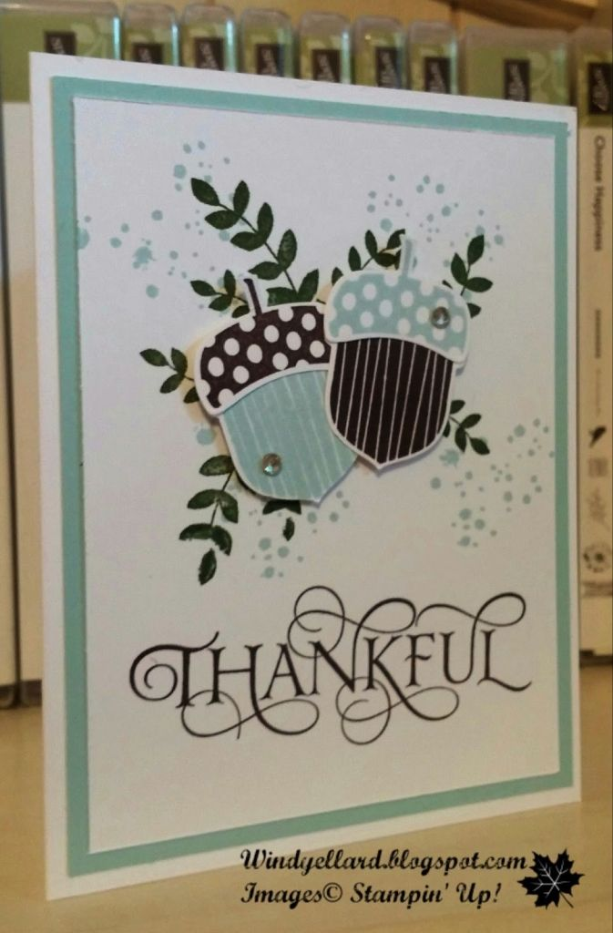 Pals Paper Crafting Card Ideas Acorny Thank