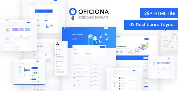 Oficiona is a Job Board Site Template for Job Portal Website This