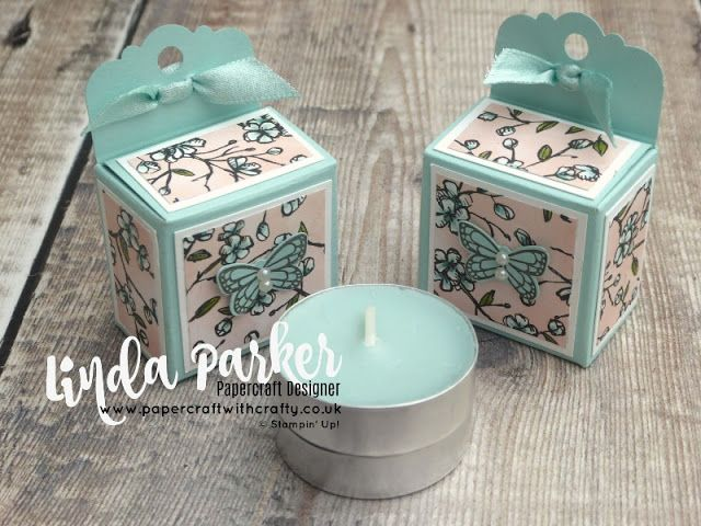 Pretty Scented Tealights Gift Box made with the Delightful Tag Topper Punch – Video Tutorial