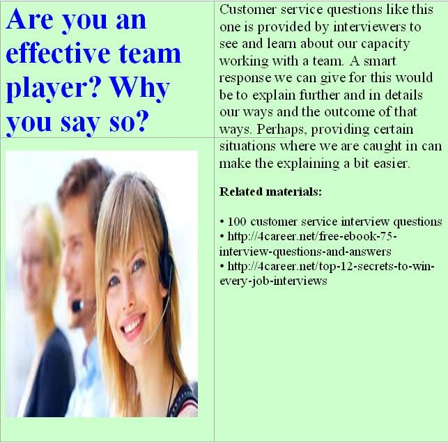 interview questions customer service