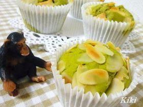 「卵不使用!!抹茶ホワイトチョコマフィン」Kiki | お菓子・パンのレシピや作り方【corecle*コレクル】