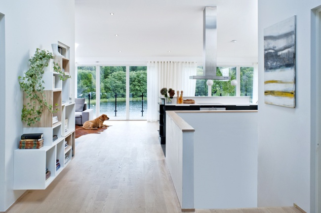Villa Eriksvik, Sweden Full scale Interior Architecture:  Floor plans, layout and fixtures, finishes and surfaces, bespoke furnishings, interior lighting and furniture scheme.