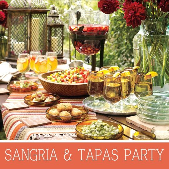 Sangria and Tapas....Spanish tapas can range from bite-size finger foods to skewered delights. desserts