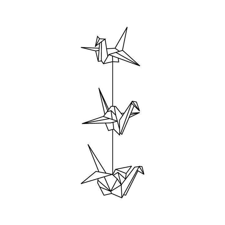 paper crane tattoo - Google Search