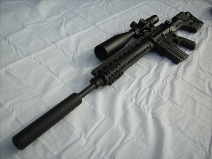 Larue Tactical OBR 7.62 with scope and suppressor. | Guns ...