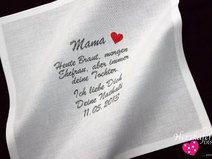 HOCHZEIT ♥ Besticktes Taschentuch ♥ Freudentränen