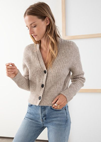 Wool Blend Cardigan – Oatmeal – Cardigans – & Other Stories