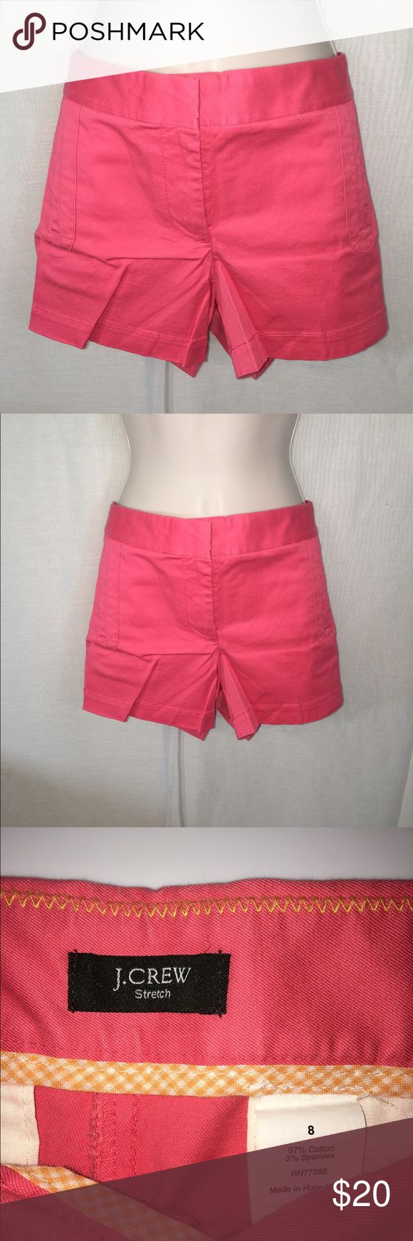 J. Crew Coral Shorts-8 A beautiful pair of coral shorts from J.Crew that are in mint condition! Great color and great quality! J. Crew Shorts