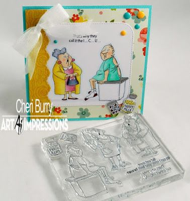 Art Impressions Rubber Stamps: Ai @ Michael's ... Get Well (SC0681) set ...handmade card. doctor nurse