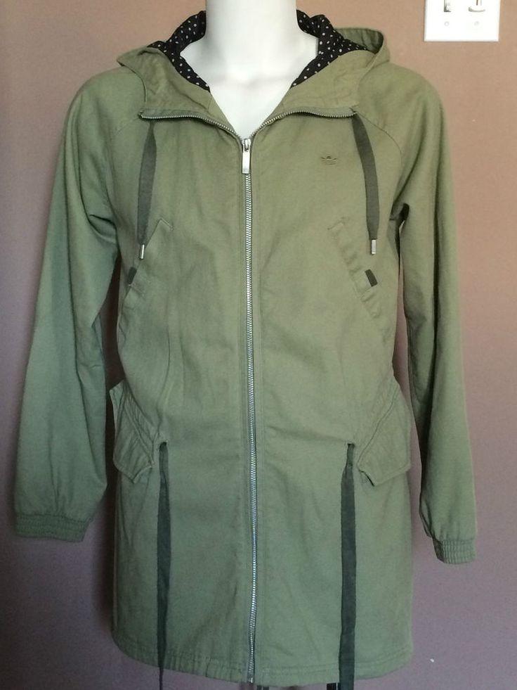 Adidas Jacket Cotton Denim Shade of Green Men Size M EUC