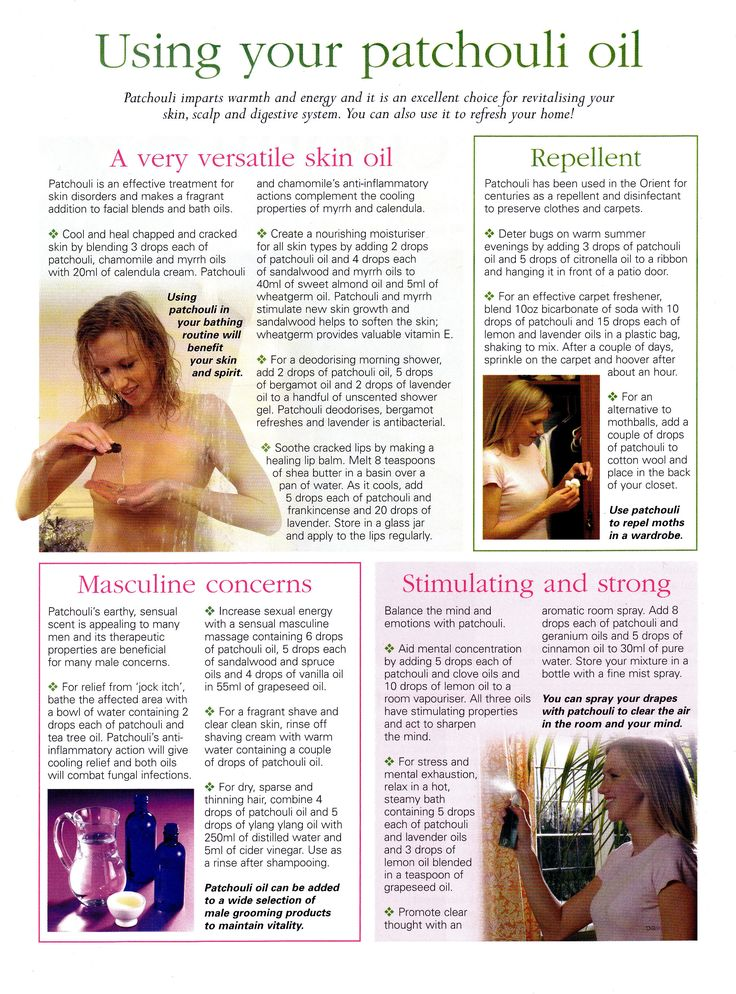 Uses of Patchouli oil