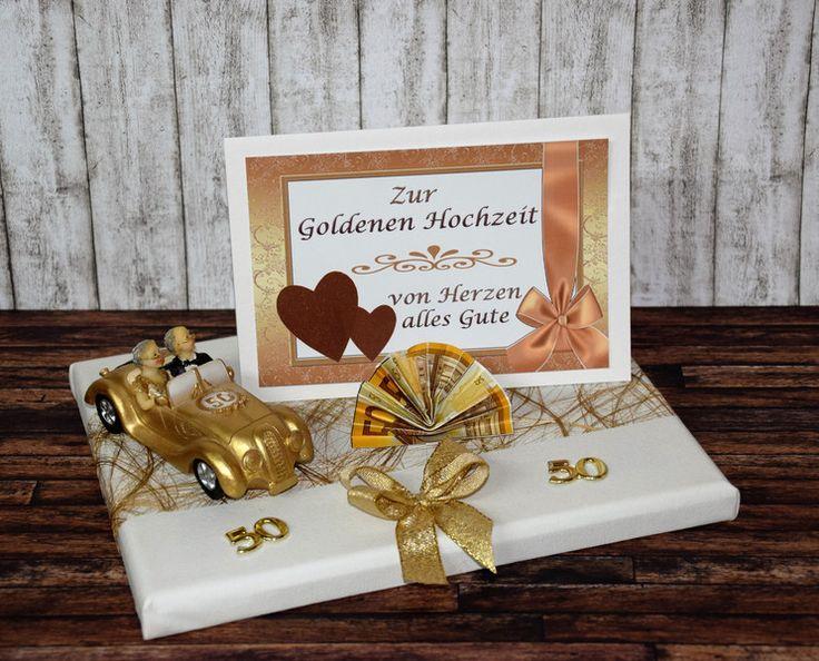 Geldgeschenke - GELDGESCHENK ZUR GOLDENEN HOCHZEIT *AUTO* - ein Designerstück von Xawega bei DaWanda