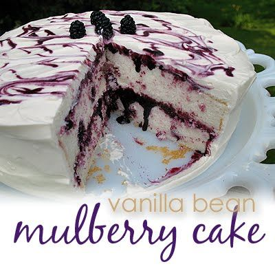 Vanilla Bean Mulberry Cake - we used to eat & eat & eat mulberries from the huge tree out at my grandma Lucy's house