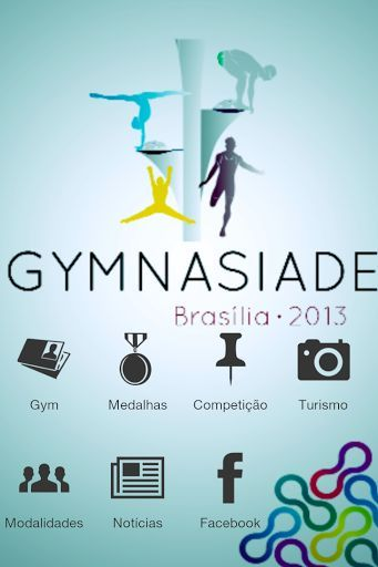 Aplicativo criado para a Gymnasiade 2013 em Brasília.<p>Aqui você encontrará tudo que esta ocorrendo no grande evento.<p>Brazil's capital is preparing itself for the 2013 Gymnasiade, world's biggest academic event, which will happen from November 28th to December 3rd 2013.<p>The 2013 Gymnasiade will assemble athletes from ages of 14 to 17 years old, regularly registered in an educational institution. These athletes will be representing 40 different countries and shall be contesting in 8…