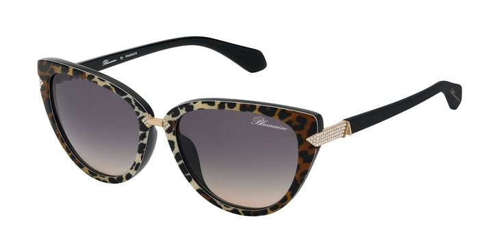 Blumarine Spring Summer 2016 Eyewear by Anastacia • Cat-Eye Shaped Sunglasses With Swarovski Crystals. • This acetate leopard print model, with golden metal finishes, has a sensual cat-eye shape. Geometric details with Swarovski crystals embellish the front and the black temples, enriched by Anastacia personal A as a golden trim. • Products with selling limitations in specific countries. For further info please contact De Rigo: infoblumarinebyanastacia@derigo.com #BlumarinebyAnastacia…