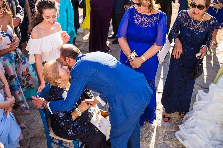 orthodox ceremony wedding paros greece seaside church golden beach giagia yiayia