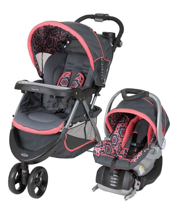 Look at this Coral Floral Nexton Travel System on #zulily today!