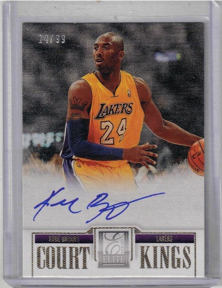 201213 elite court kings basketball kobe bryant auto card