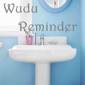 A Muslim home school: My Wudu Reminder Poster