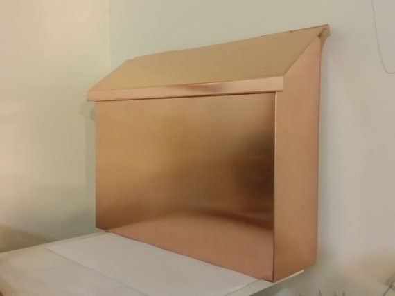 Large Flush Mount Copper Mailbox