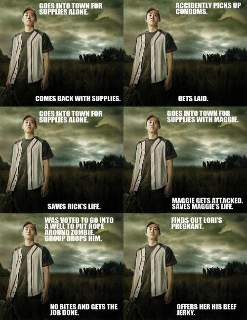 Good guy Glenn. The Walking Dead