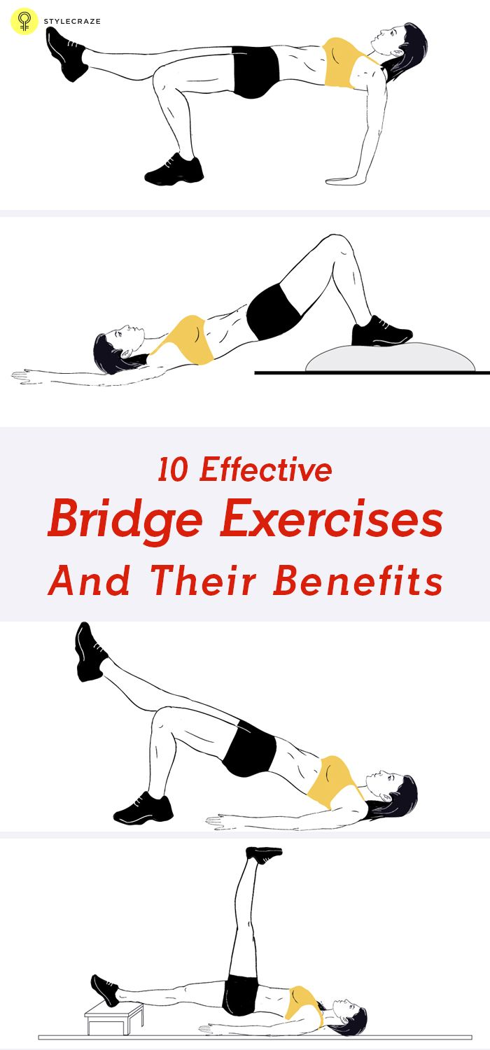 A good workout regimen includes exercises that work for the whole body. There are many different exercise options, that you can use to get the perfect workout regimen. To give yourself a quick core workout, you need to try the simple and basic bridge exercise along with its variations. In order to learn the 10 best exercises, try the ones listed here.  #exercises